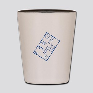 Floor Plan Shot Glass