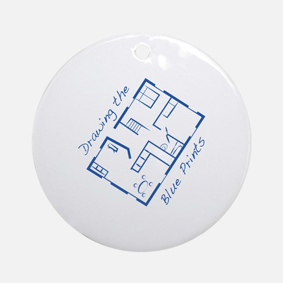 The Blue Prints Ornament (Round)