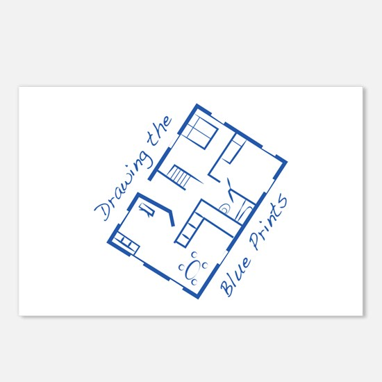 The Blue Prints Postcards (Package of 8)