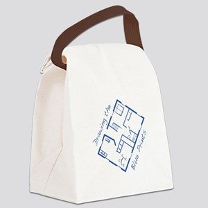 The Blue Prints Canvas Lunch Bag