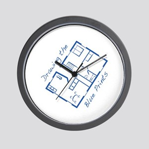 The Blue Prints Wall Clock