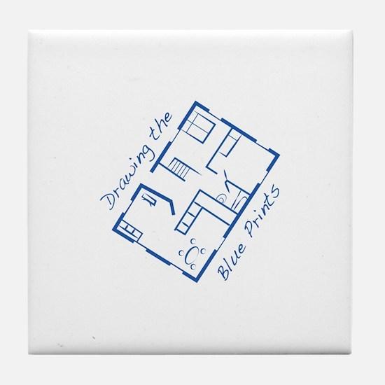 The Blue Prints Tile Coaster