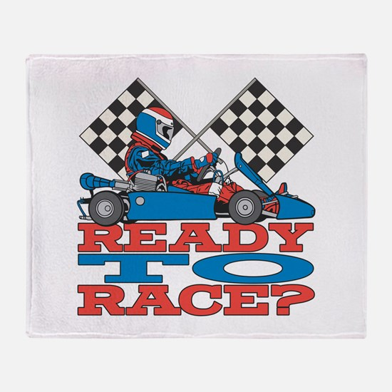 Ready to Race Go Kart Throw Blanket