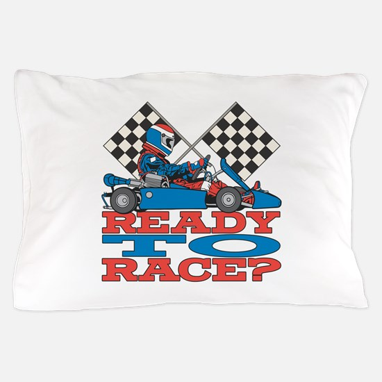 Ready to Race Go Kart Pillow Case