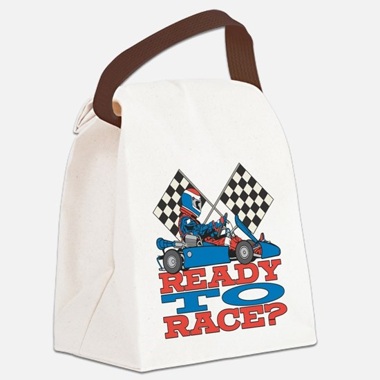 Ready to Race Go Kart Canvas Lunch Bag