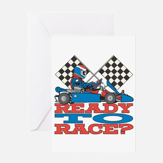 Ready to Race Go Kart Greeting Card
