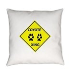 Coyote Crossing Everyday Pillow