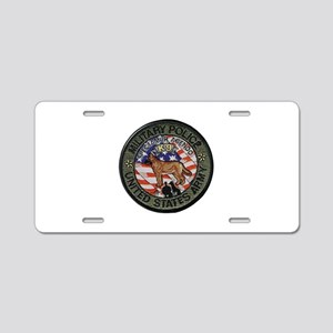 Army MP Canine Aluminum License Plate