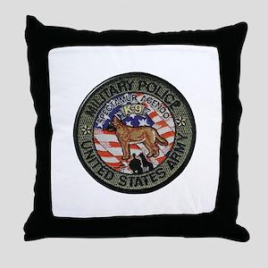 Army MP Canine Throw Pillow