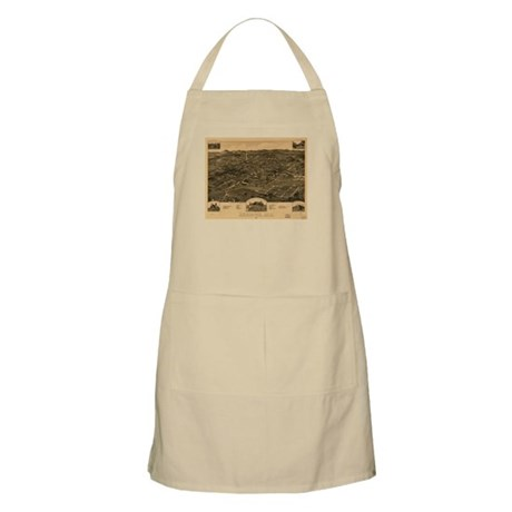 Anniston Old Map BBQ Apron