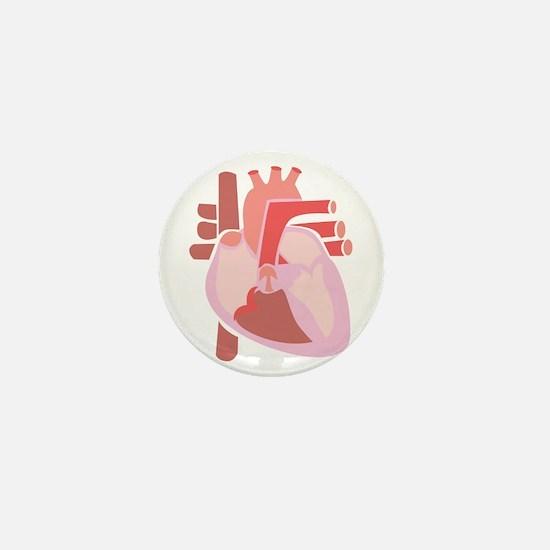 Human Heart Mini Button