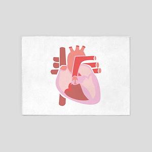 Human Heart 5'x7'Area Rug