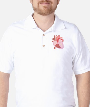 Human Heart Golf Shirt