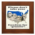 Precious Freedom Framed Tile