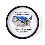 Precious Freedom Wall Clock