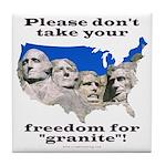 Precious Freedom Tile Coaster