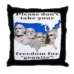 Precious Freedom Throw Pillow
