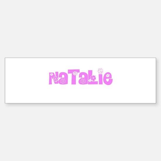 Natalie Flower Design Bumper Bumper Bumper Sticker