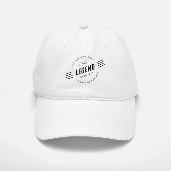 Birthday Born 1970 The Legend Baseball Baseball Cap