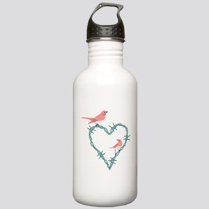 Barbed Wire Heart Bird Stainless Water Bottle 1.0L
