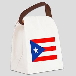 Puerto Rican Boricua Flag Bandera Canvas Lunch Bag