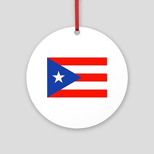 Puerto Rican Boricua Flag Bandera Ornament (Round)