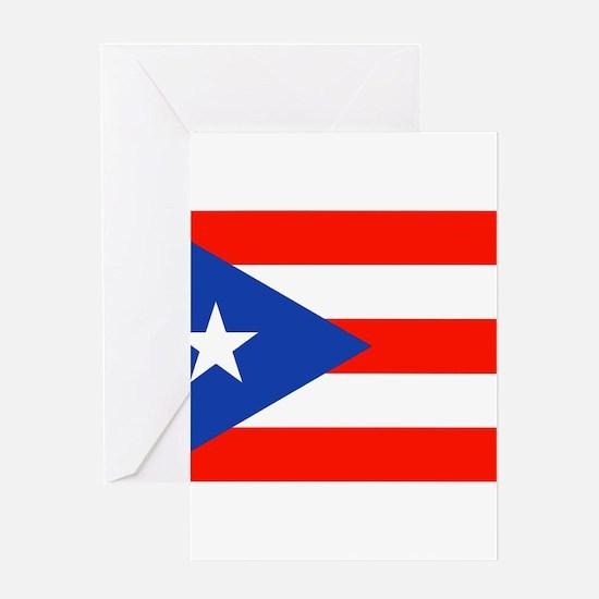 Puerto Rico Boricua Bandera Orgullo Greeting Cards