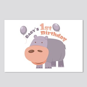 1st Birthday Postcards (Package of 8)