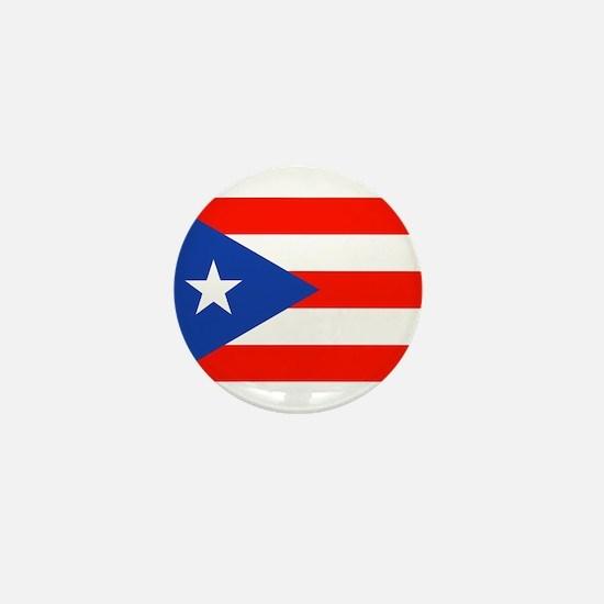 Puerto Rican Boricua Flag Bandera Orgu Mini Button