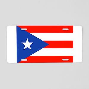 Puerto Rican Boricua Flag B Aluminum License Plate