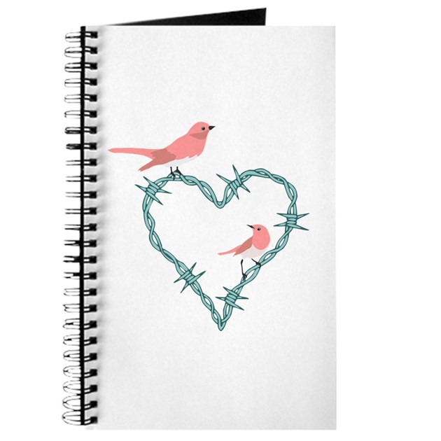 Barbed Wire Heart Birds Journal by pounddesigns