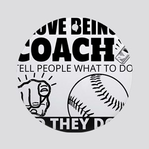 Baseball Coach Humor Ornament (Round)