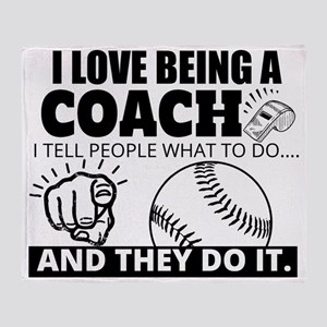 Baseball Coach Humor Throw Blanket