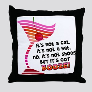 But it's got BOOZE! Throw Pillow