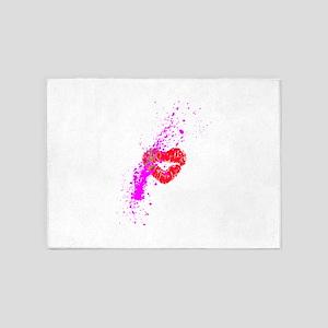 Lipstick graffiti 5'x7'Area Rug