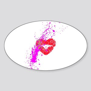 Lipstick graffiti Sticker