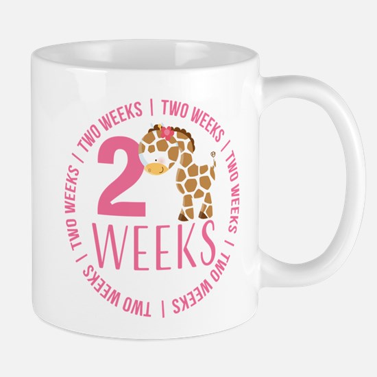 Adorable Giraffe 2 Weeks Old Mug