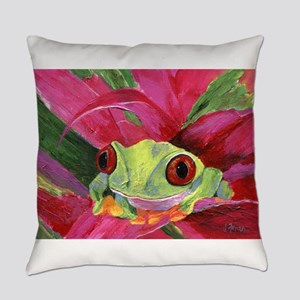 Ruby the Red Eyed Tree Frog Everyday Pillow