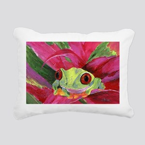 Ruby the Red Eyed Tree Frog Rectangular Canvas Pil