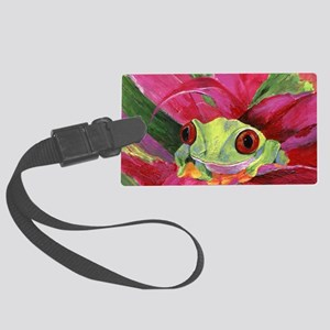 Ruby Tree Frog Large Luggage Tag