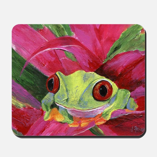 Ruby Tree Frog Mousepad