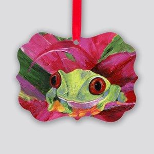 Ruby Tree Frog Picture Ornament