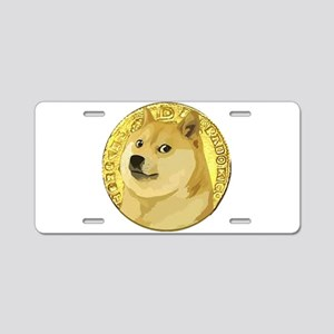 ANCIENT DOGE DOGECOIN COIN Aluminum License Plate