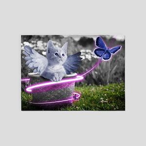 angel cat 5'x7'Area Rug