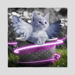angel cat Queen Duvet