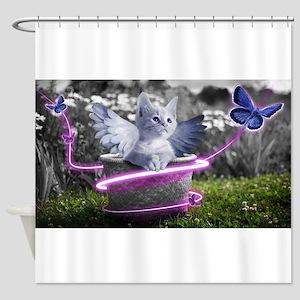 angel cat Shower Curtain