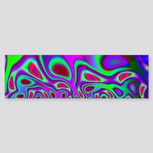 Rainbow Fractal Bumper Sticker