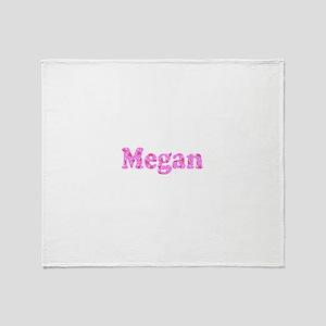 Megan Custom Floral Menagerie Throw Blanket