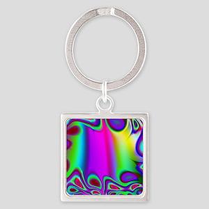 Rainbow Fractal Keychains