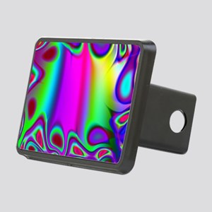 Rainbow Fractal Rectangular Hitch Cover